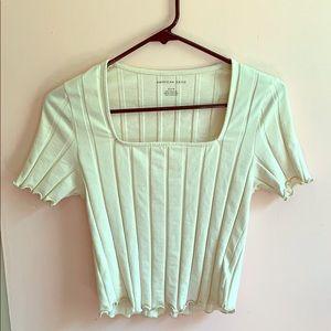 Vanilla spring crop top (never worn)